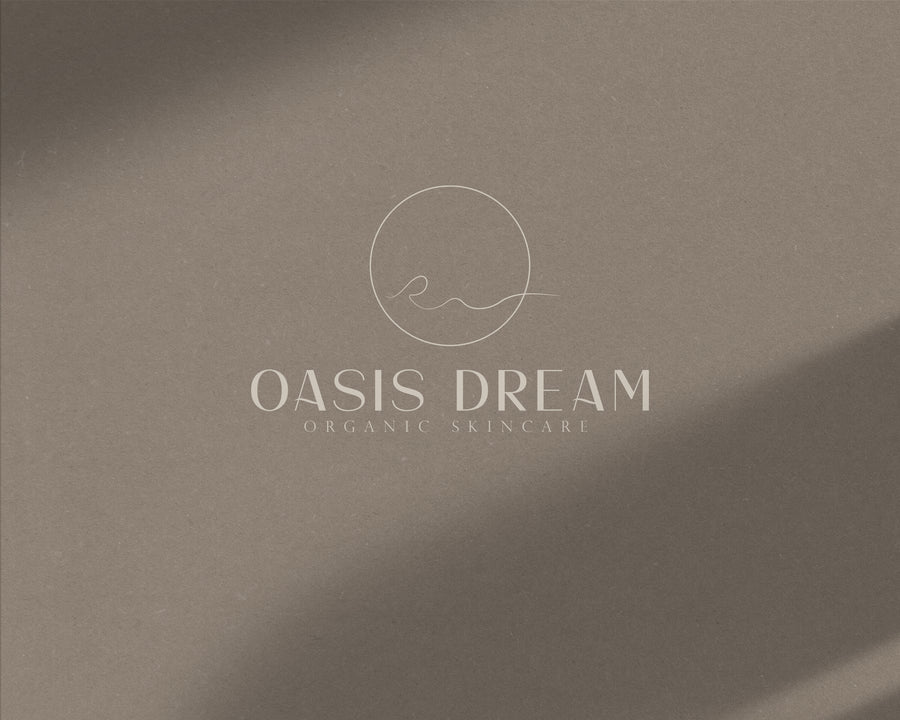 Oasis Dream Pre-Made Logo - Hyggely Presets and Branding