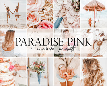 Paradise Pink Mobile Lightroom Presets - Hyggely Presets and Branding