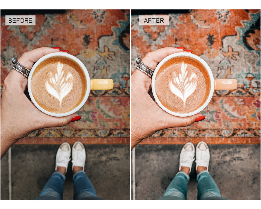 Pumpkin Spice Mobile Lightroom Presets - Hyggely Presets and Branding