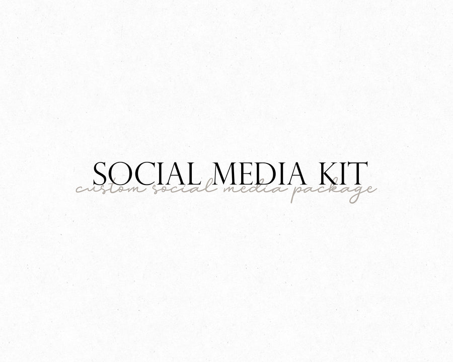 Custom Social Media Kit - Hyggely Presets and Branding