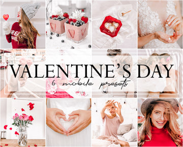 Valentine's Day Mobile Lightroom Presets - Hyggely Presets and Branding