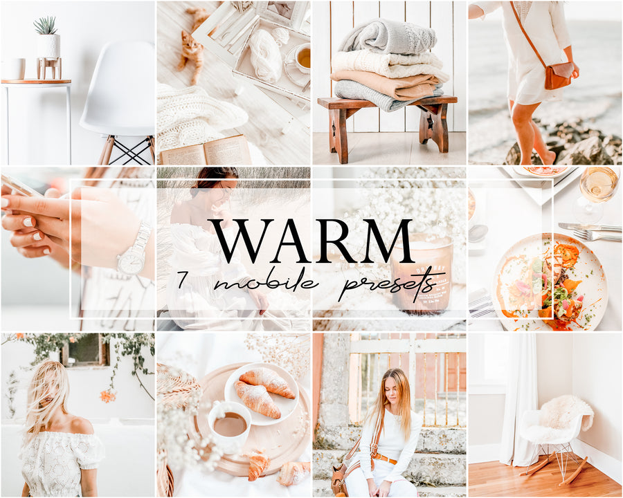 Warm Mobile Lightroom Presets - Hyggely Presets and Branding