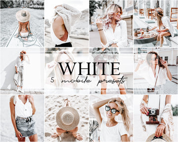White Mobile Lightroom Presets - Hyggely Presets and Branding