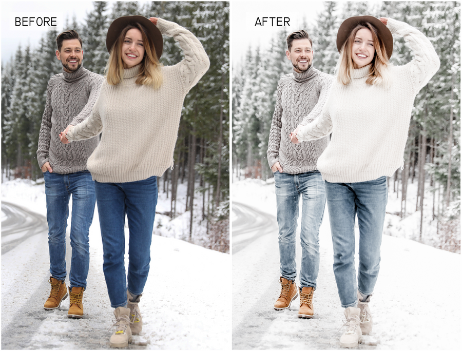 Winter Wonderland Mobile Lightroom Presets - Hyggely Presets and Branding