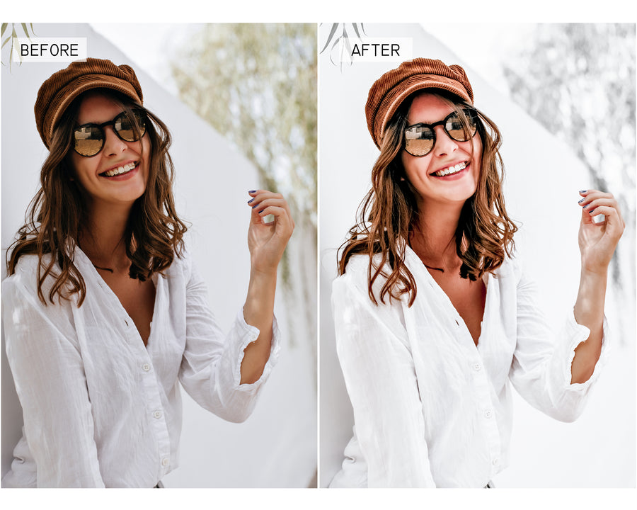 White Desktop Lightroom Presets - Hyggely Presets and Branding
