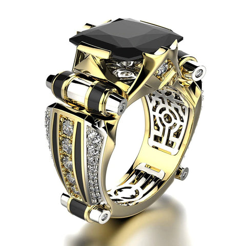 Men Geometric Ring - SteamPunk Vintage