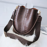 Women Crocodile Cross-body Handbag