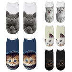 Cute Cat 3D Print Socks (for Female & Male) - GreenLime Online Store