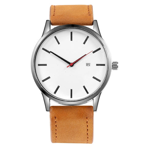Quartz Sport Watch, Leather Strap