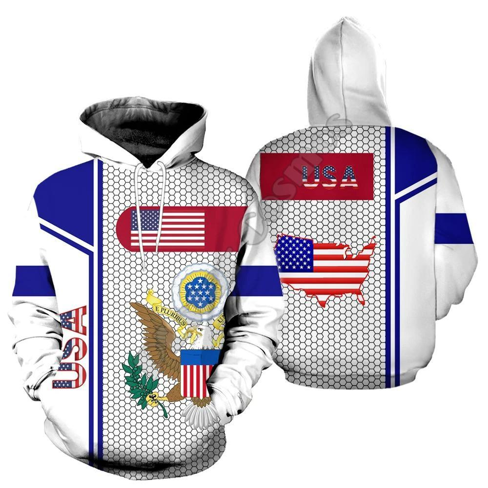 Fashion Hoodies & Pullovers - 3D Print USA Flag (for Men and Women)