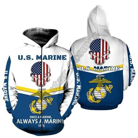 Fashion Hoodies & Pullovers - 3D Print US Marine (for Men and Women) - GreenLime Online Store