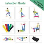 Yoga Resistance Bands, Gym/Fitness/Workout Pull-up Resistance Bands - GreenLime Online Store