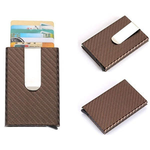 Mini Wallet with Clip, Automatic Slide-Out Card Case