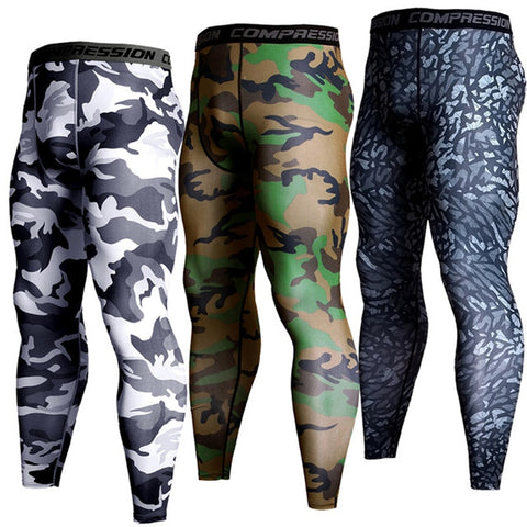 Men Sports Training Pants, Compression Yoga Trousers, Fitness Sports Leggings