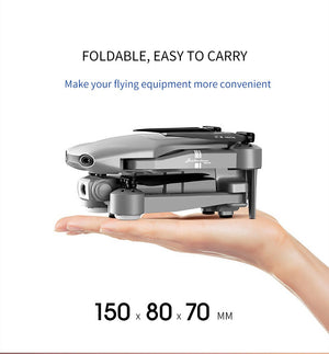 Drone with GPS, WiFi, Live-Video, Wide Angle HD Camera, Fold-able, Portable,and with Altitude Hold