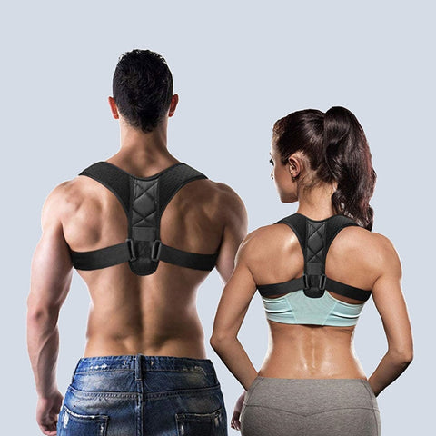 Unisex Posture Corrector, Upper Back Brace Shoulder with Lumbar Support Belt