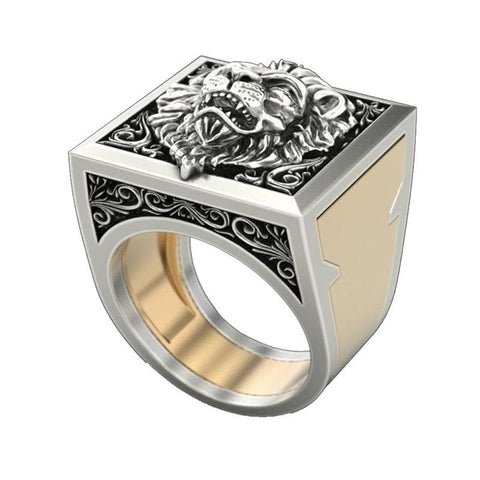 Men's Trendy Combination Rings Set (Lion King Rings)