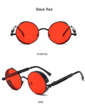 "Classic Gothic Steampunk Sunglasses, ""FLIP"" Round Frame (for Men & Women)"