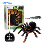Smart Black Spider (Tarantula) with Shiny Eyes & Remote Control - Electronic Pet Remote Control Simulation (Prank/Scary Toy Gift) - GreenLime Online Store