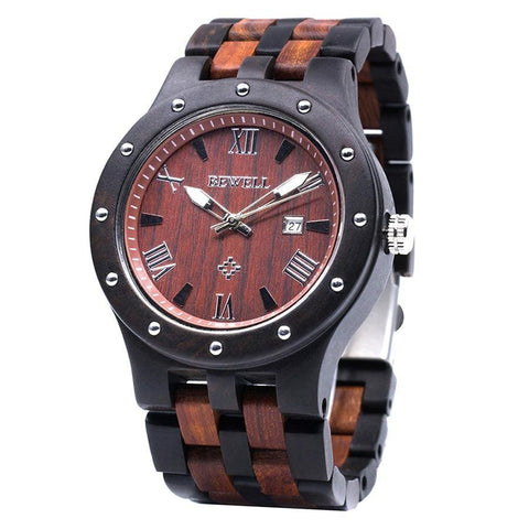 BEWELL Natural Wooden Quartz Watch (Made in Japan) - GreenLime Online Store