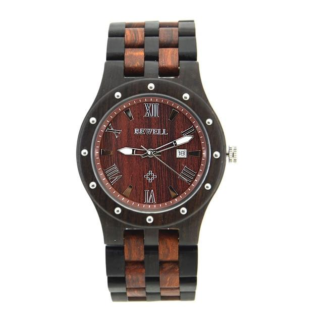 BEWELL Natural Wooden Quartz Watch (Made in Japan)