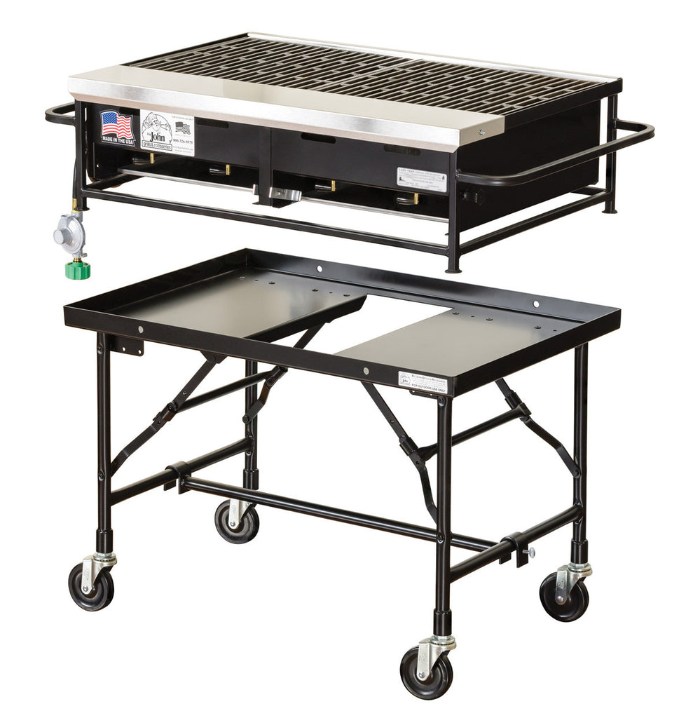 Small/Medium   Big John 3ft Commercial Propane BBQ 512 Square Inches
