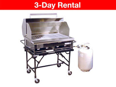 Big John 3ft Portable Propane BBQ Grill