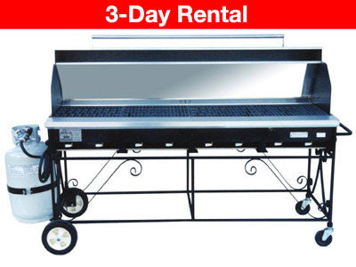 Large - Big John 6ft Commercial Propane BBQ 1024 square inches