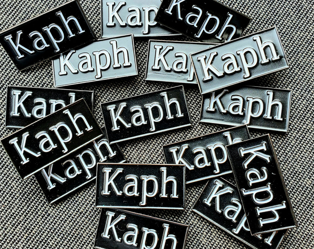 Kaph enamel badge
