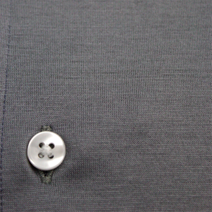 Grey Lightweight Cotton Long-Sleeve Polo Shirt