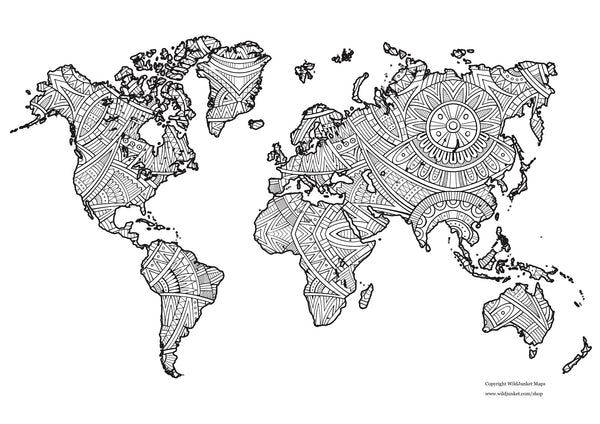 - FREE Printable World Map Coloring Page – WildJunket