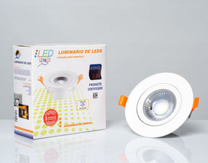 Luminario LED SMD 9W dirigible empotrable (EMSMD9/BC)