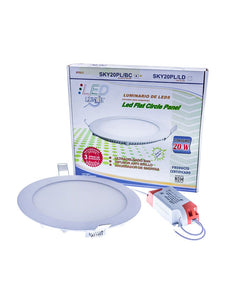 Panel circular LED 20W Empotrable  (SKY20PL/BC)