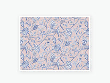 Load image into Gallery viewer, November Floral Textile Vellum 2020 - Indigo