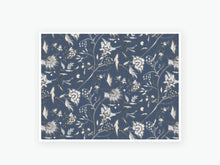 Load image into Gallery viewer, November Floral Textile Vellum 2020 - Black and White