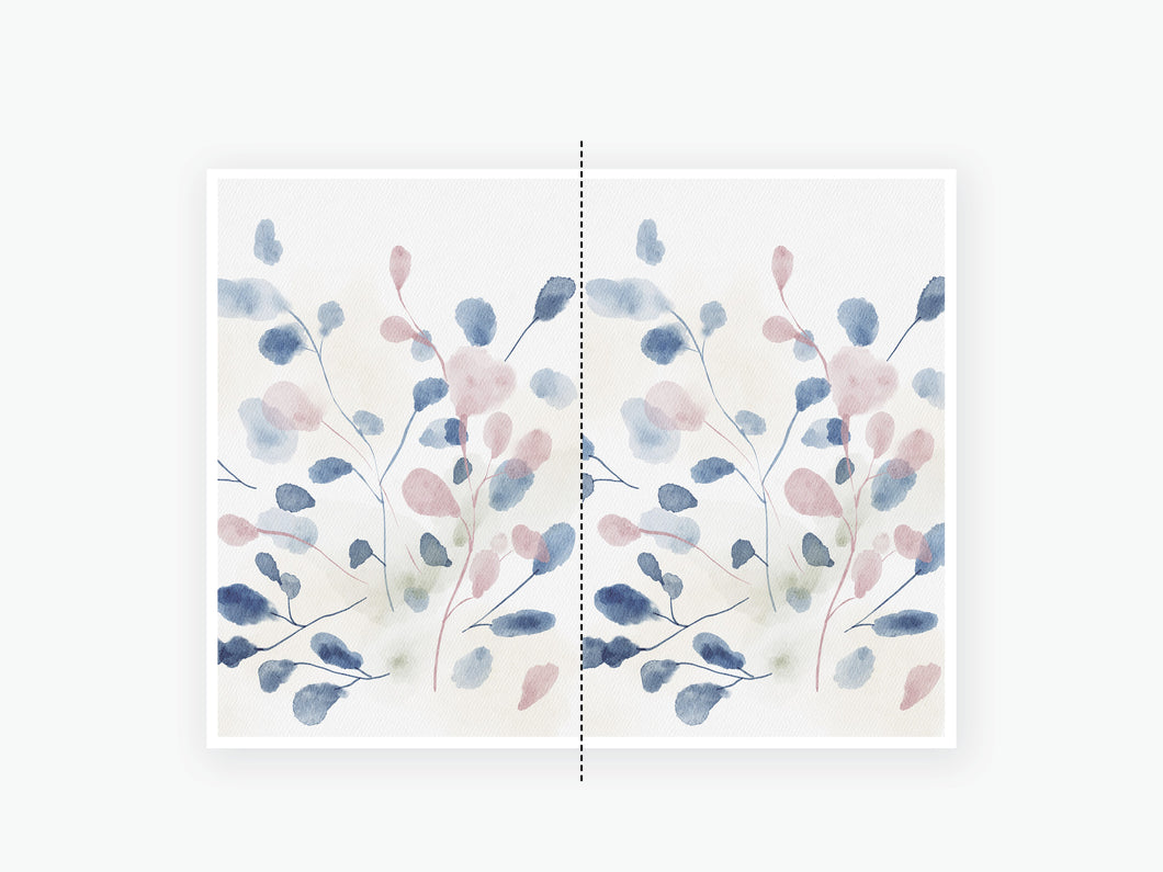 October Fall Vellum 2020 - Blue Pink