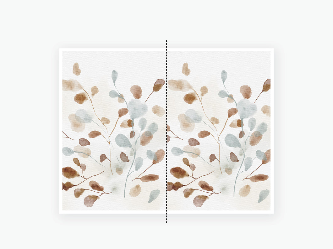 October Fall Vellum 2020 - Brown Blue