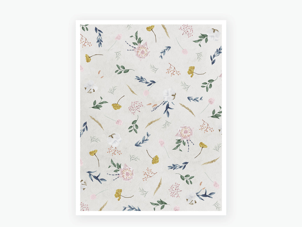 September Fall Florals Vellum 2020 - Beige