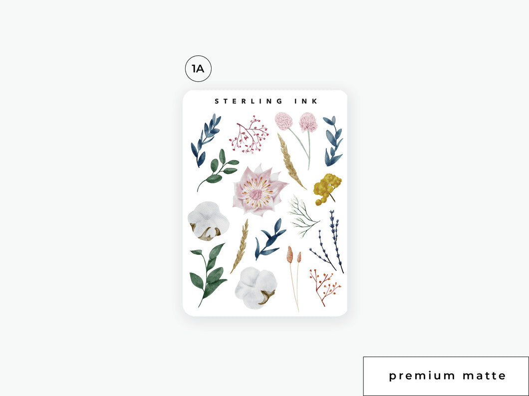 September Fall Florals Stickers (2020)