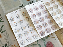 Load image into Gallery viewer, October Fall Stickers (2020) - Floral Icons