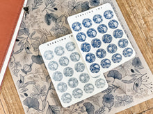 Load image into Gallery viewer, December Winter Floral Stickers - White (Large Icons)