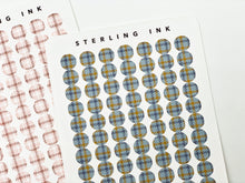 Load image into Gallery viewer, November Houndstooth Plaid Textile  - Set II (Dot Stickers)
