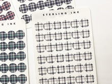 Load image into Gallery viewer, November Houndstooth Plaid Textile Stickers - Set I (Small Icon)