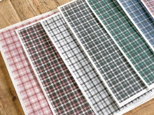 Load image into Gallery viewer, November Houndstooth Plaid Textile Vellum 2020 - Set I