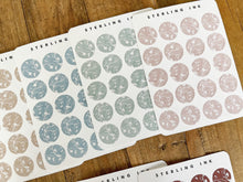 Load image into Gallery viewer, February Chinoiserie Stickers - Large Icon Stickers (White I)