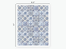 Load image into Gallery viewer, August Tile Vellum 2020 - Blue and White
