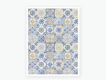 Load image into Gallery viewer, August Tile Vellum 2020 - Blue and Yellow