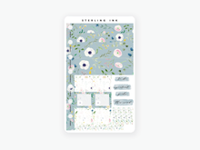 Load image into Gallery viewer, Hobonichi Weeks Weekly Kit: June Florals 2020-Blue