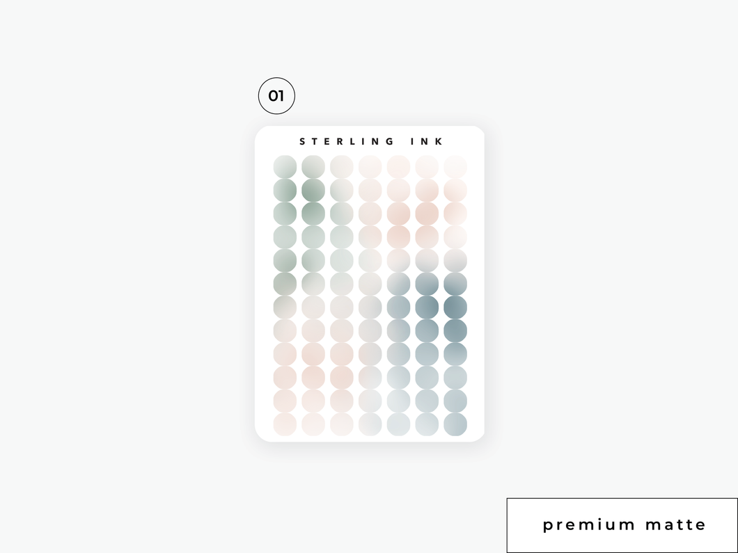 Dots Stickers - Gradient