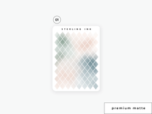 Load image into Gallery viewer, Diamond Shape Stickers - Gradient